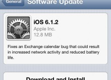 Apple Update iOs 6.1.2