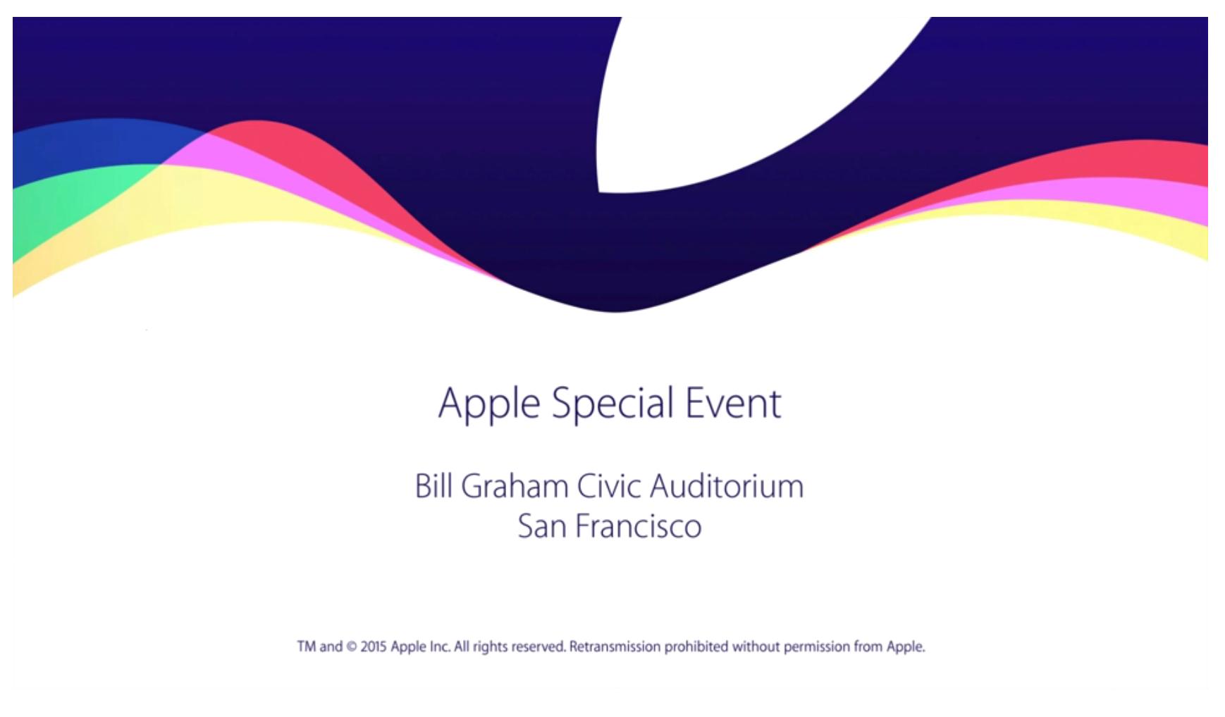 งาน Events ของ Apple เมื่อคืน 09/10/2015