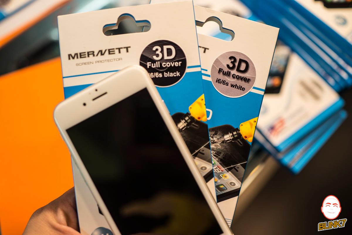 ฟิล์มกระจกนิรภัย Mernett 3D Full Cover สำหรับ iPhone6 / 6s / 6 Plus / 6s Plus